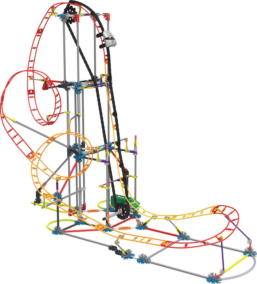 1089x1200 K'Nex Thrill Rides Electric Inferno Roller Coaster Constructionk