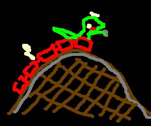 300x250 Lizard Monster On Roller Coaster