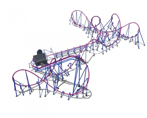 490x392 Preview Banshee Roller Coaster