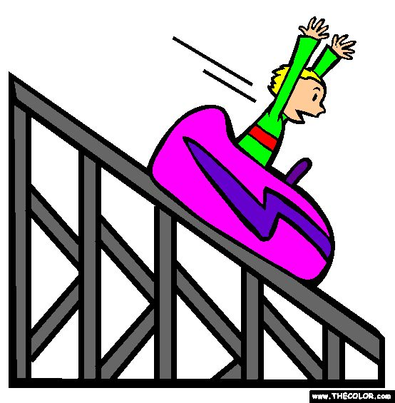 554x565 Roller Coaster Coloring Page Boats Cars Trucks Airplanes Trains