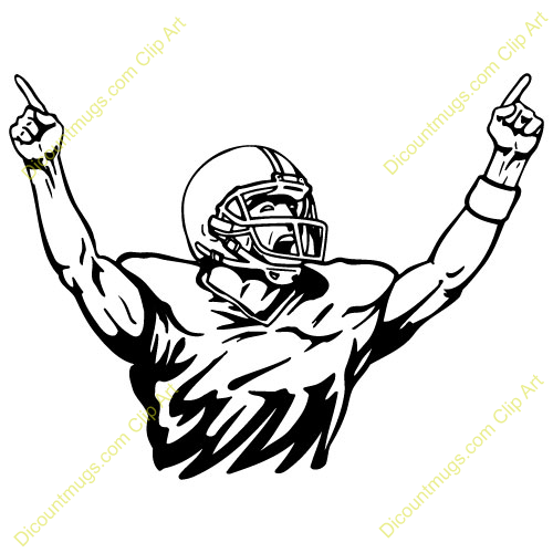 500x500 Clipart Football Players
