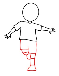 250x325 Drawing A Soccer Cartoon Player