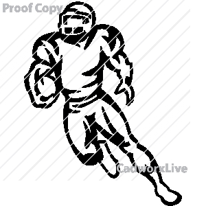 300x300 Football Player Running With Ball Clipart Panda