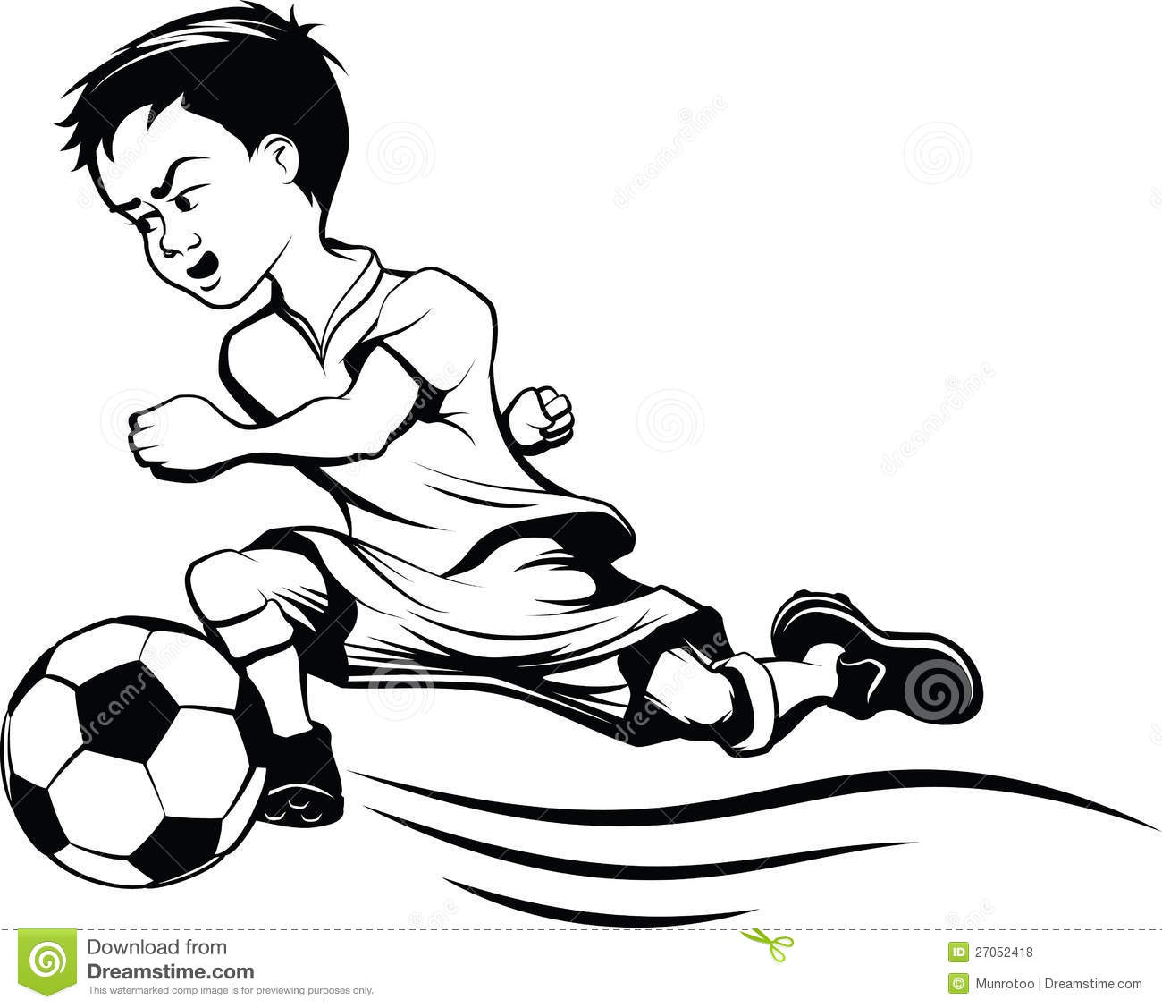 1300x1127 How To Draw Soccer Cartoon Of A Young Man Kicking A Soccer Ball