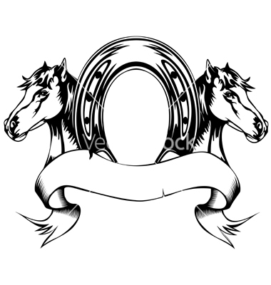 380x400 Horseshoe Template