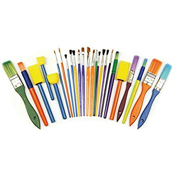 350x350 Creativity Street Round Brushes, Assorted Colors, 144