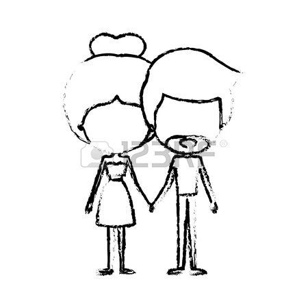 Drawing Of People Holding Hands