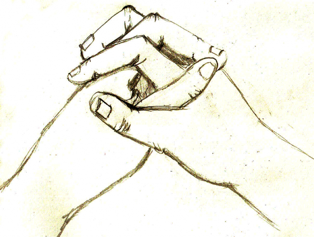 1024x774 How To Draw 2 People Holding Hands How To Draw Holding Hands Ehow
