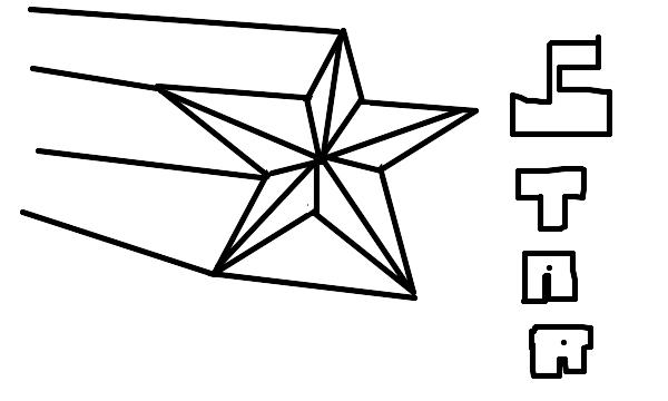 Drawing Of Shooting Star