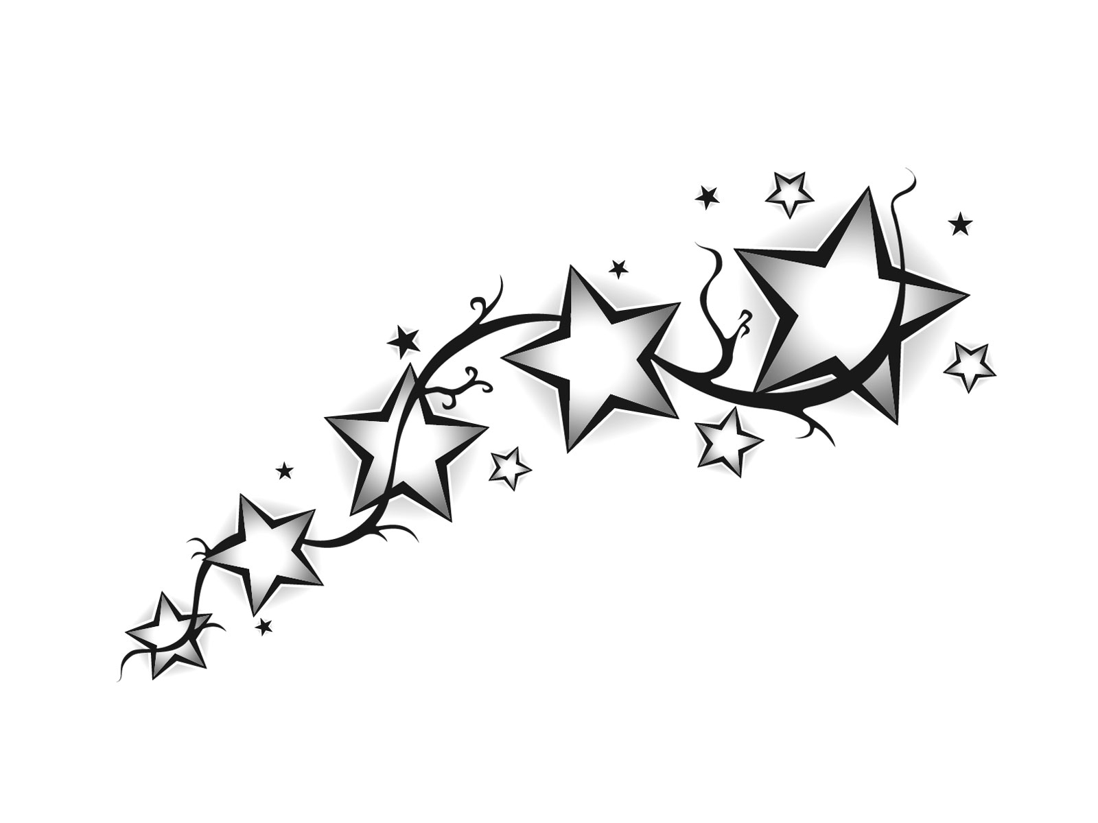 1600x1200 Shooting Stars Tattoos Designs Tribal Shooting Star Drawing