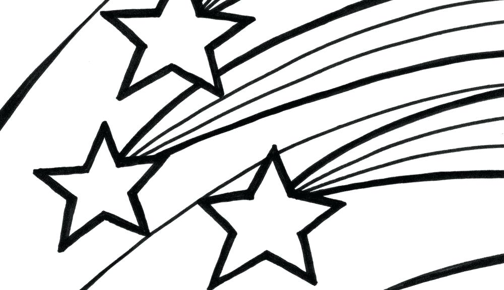 1000x576 Star Coloring Pictures Shooting Star Coloring Page Shooting Star