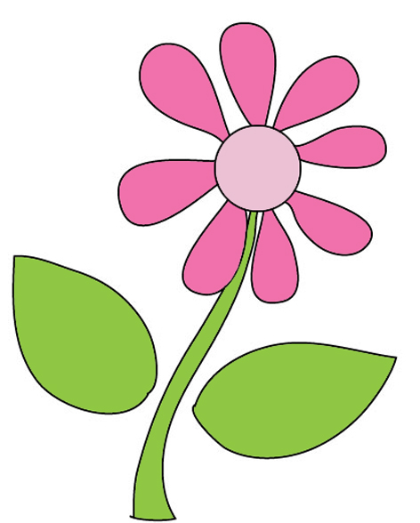 472x588 Flower Drawing Clipart