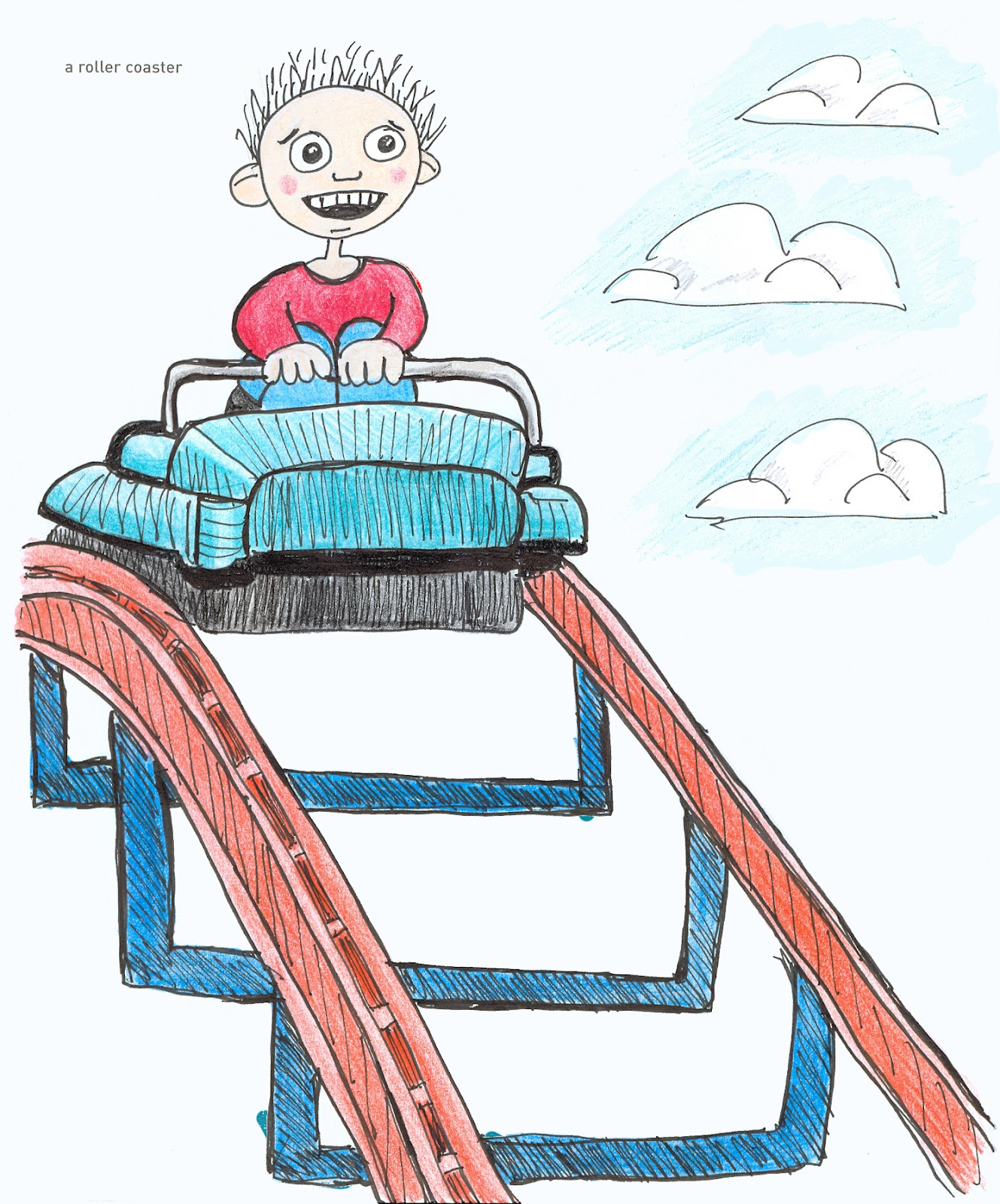 1329x1600 Roller Coaster Drawing Clipart