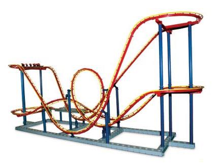 425x329 Roller Coaster Loop Clipart