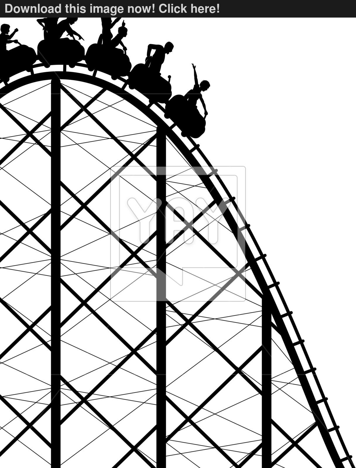 1217x1600 Rollercoaster Vector