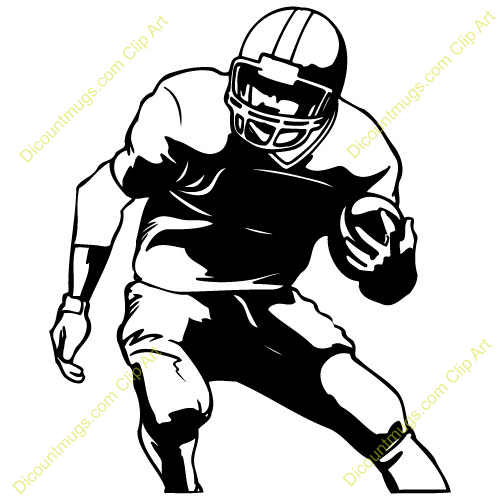 500x500 American Football Player Clipart