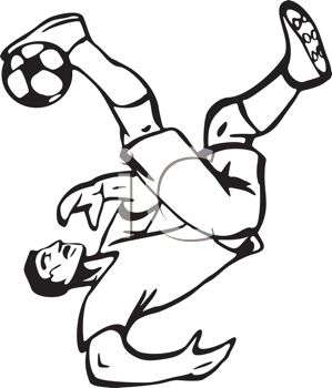 299x350 Football Player Clipart Black And White Kids