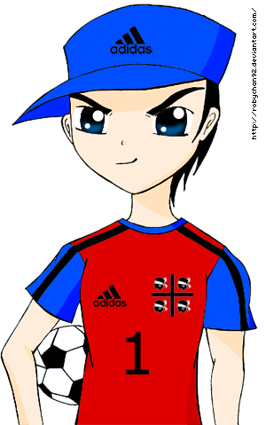 300x479 Anime Football Player By Robychan92