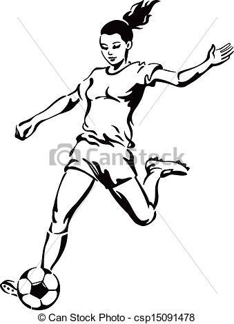 339x470 Girl Clipart Footballer