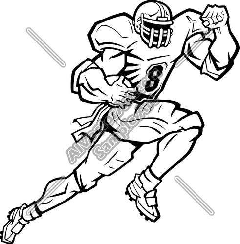 491x500 Sports Clipart Image Of A Female Football Player Football Clip