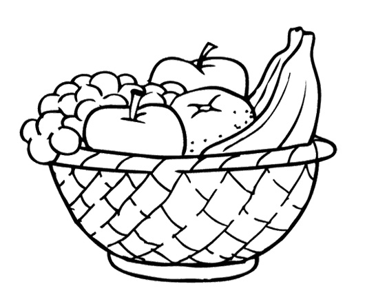 530x441 Simple Clipart Fruit Basket