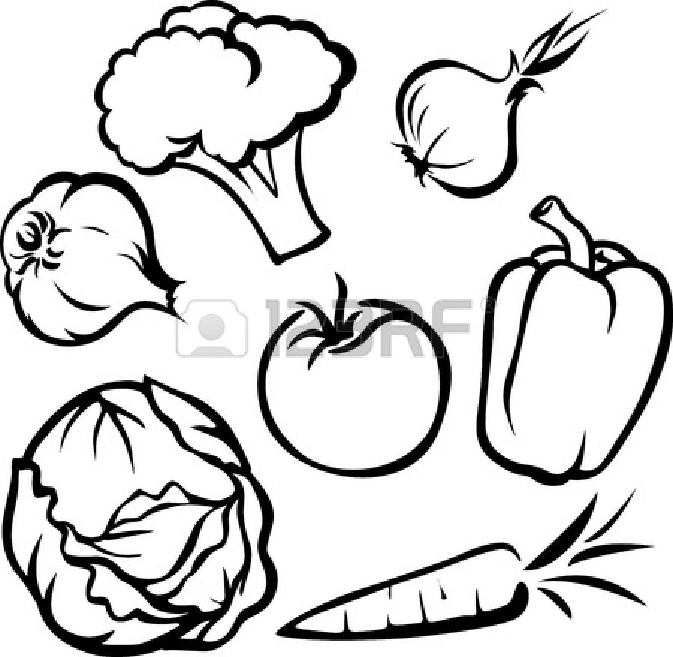 1350x1317 Vegetable Drawings Clip Art