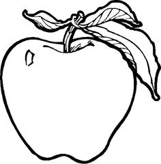 236x240 Apple Fruit Clipart Black And White