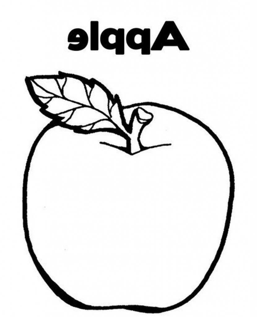 830x1024 Apple Fruit Drawing