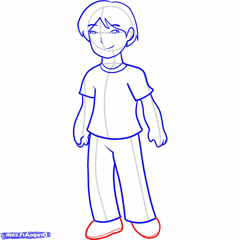 1024x1024 Draw Simple People Boy