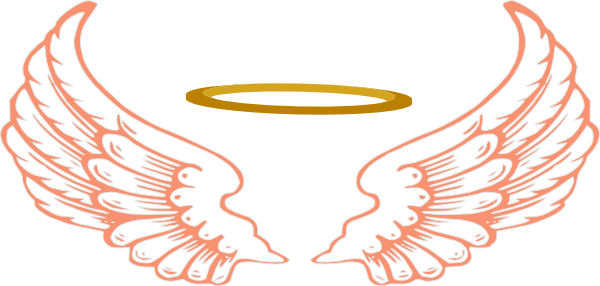 600x286 Angel Wings With Halo Drawings