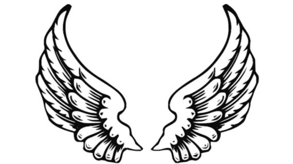 570x320 Drawing Of Angel Wings