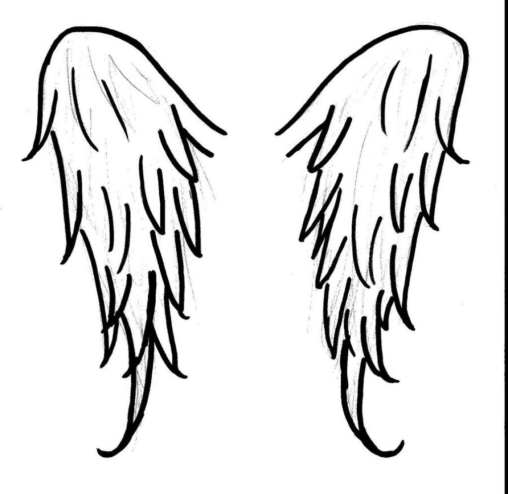 1024x996 How To Draw Angel Wings Step By Step Angel Wings Midsummerdawn