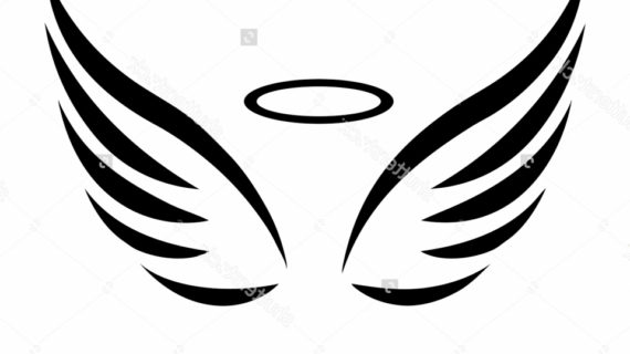 570x320 Simple Angel Wings Drawing Simple Angel Wings Drawing