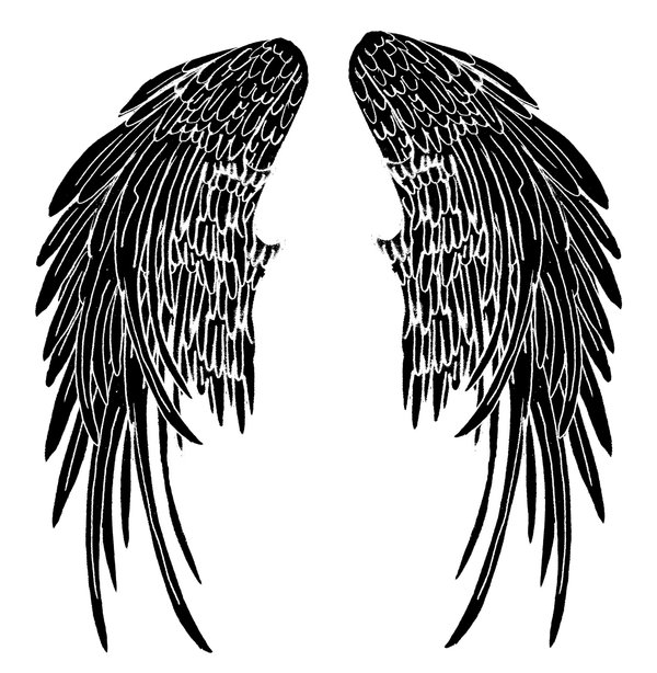600x614 Angel Wing Tattoo Artwork