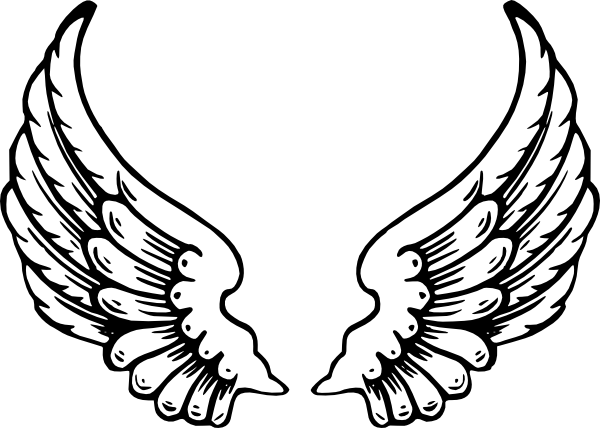 600x428 Angel Wings Clip Art