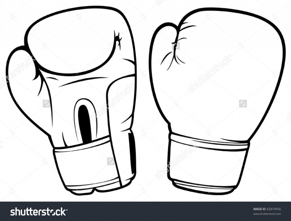 1024x777 Boxing Gloves Drawing Hanging Boxing Gloves Outline Jivdom