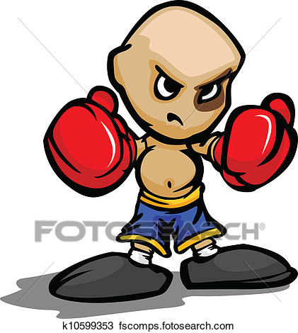 421x470 Clipart Of Cartoon Vector Illustration Of A Tough Kid With Boxing
