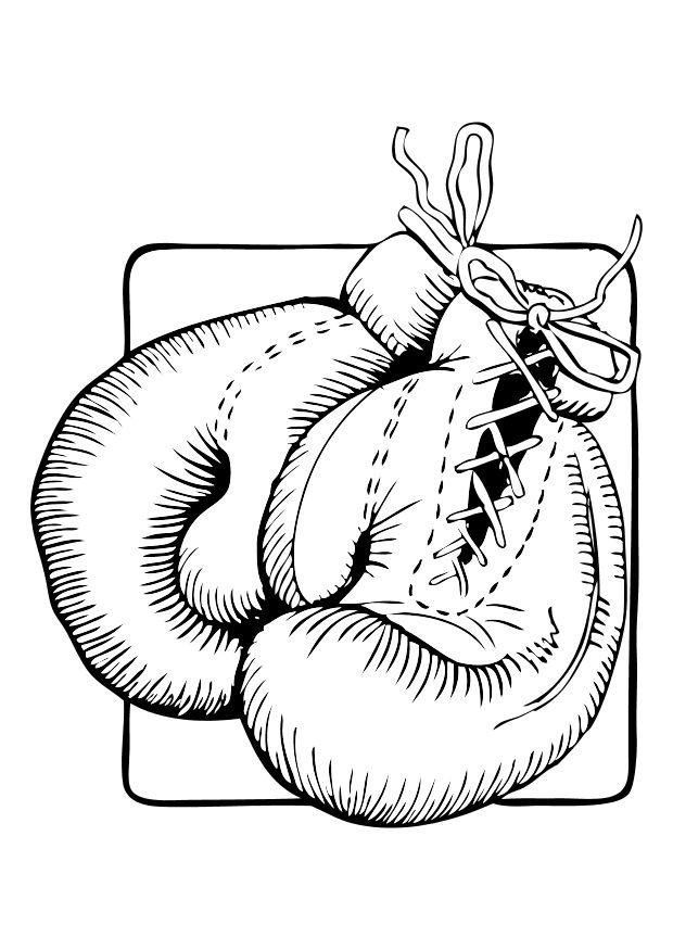 620x875 Coloring Page Boxing Gloves