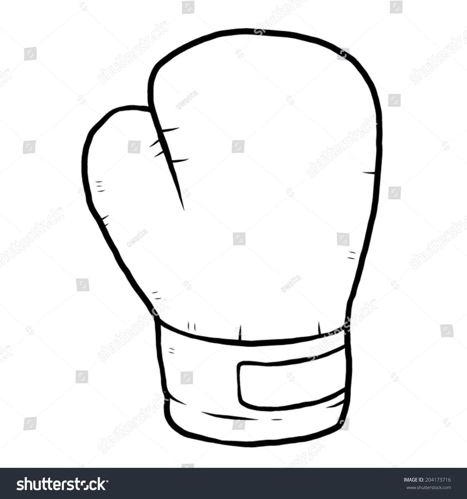 1500x1600 Drawing Of Boxing Gloves Single Boxing Glove Cartoon Vector
