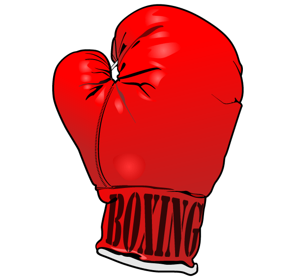 600x565 Gold Clipart Boxing Glove