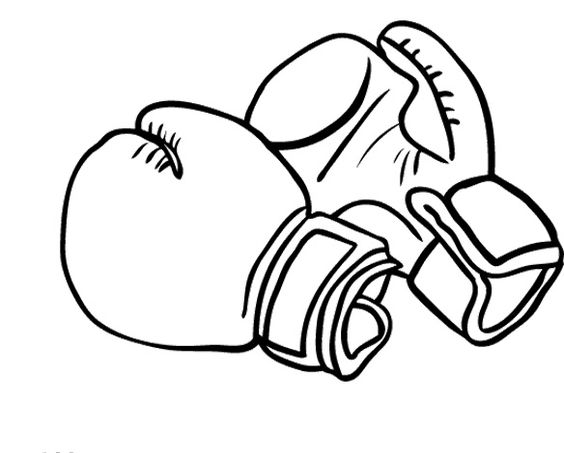 564x453 Holiday Coloring Pages Boxing Gloves Coloring Pages