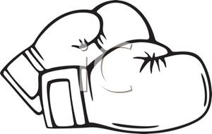 300x190 Boxing Glove Coloring Page. Free Boxing Gloves Printable