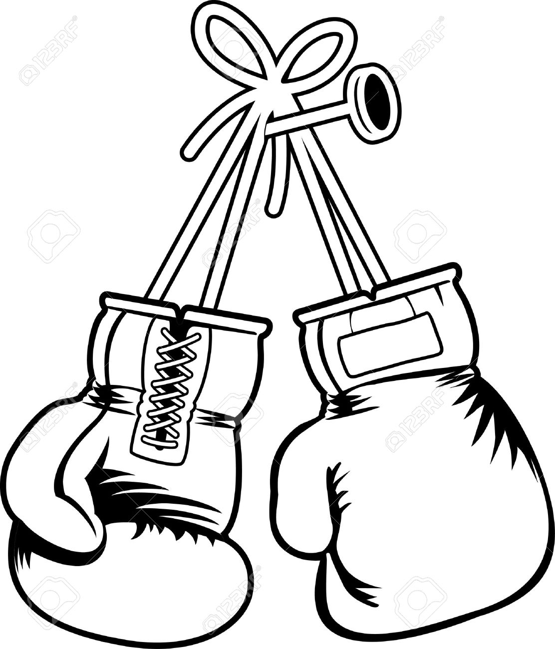 coloring pages of boxing gloves - photo#25