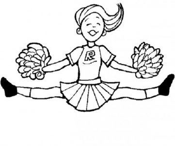 361x300 Coloring Pages Fabulous Cheer Coloring Pages Spirited