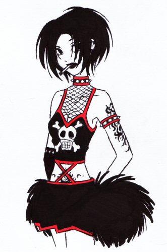 331x500 Goth Cheerleader By Doodlekitten