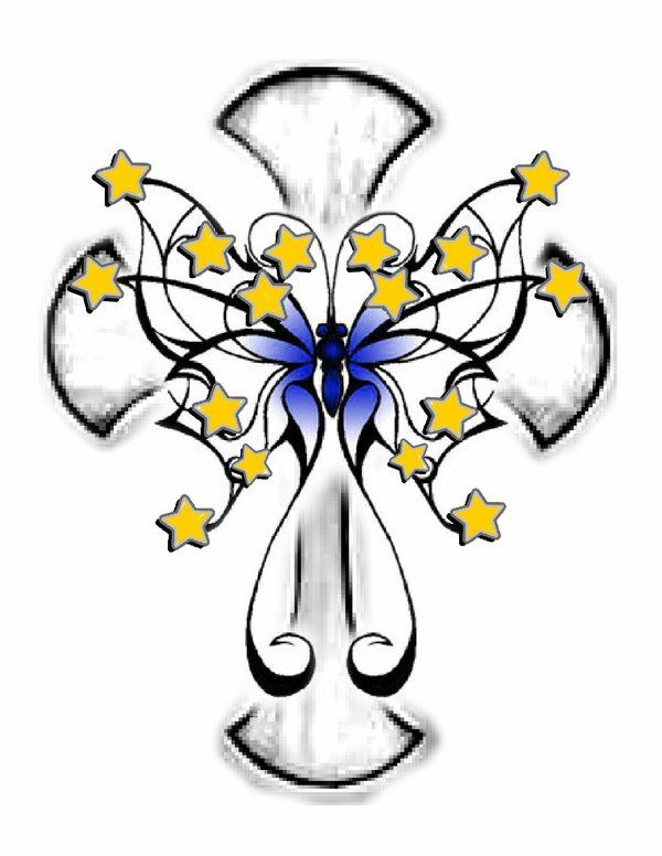 Drawings Of Crosses With Flowers