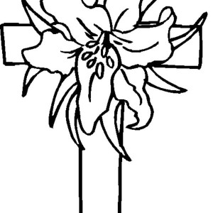 300x300 Drawing Flower With Cross Coloring Page Coloring Sun