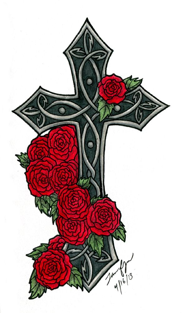 587x1000 I Need A Gothic Cross On My Back To Cover Up A Horrible Tattoo I