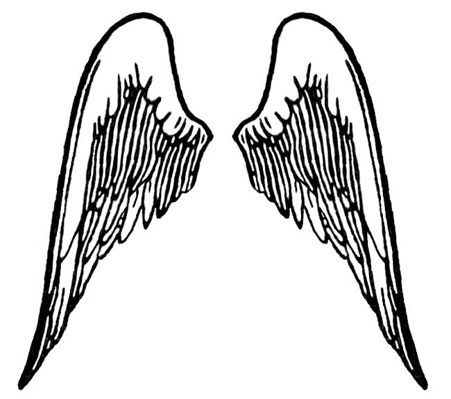 Drawings Of Crosses With Wings