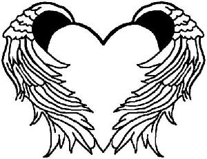 300x231 Heart With Wings Coloring Pages